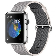 Смартчасы APPLE WATCH 42MM STAINLESS STEEL CASE WITH PEARL WOVEN NYLON (MMG02)