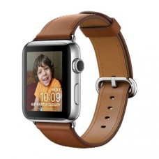 Смартчасы APPLE WATCH 42MM STAINLESS STEEL CASE WITH SADDLE BROWN CLASSIC BUCKLE Band (MNPV2)
