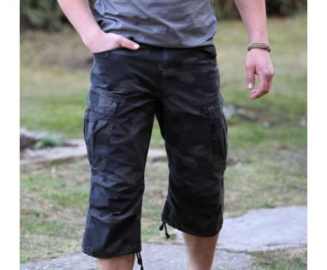 "Шорты ""SURPLUS ENGINEER VINTAGE 3/4"" - Washed black camo"