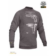 "Свитшот зимний ""WS- COLT1911"" (Winter Sweatshirt Colt 1911 Pistol Legend)"