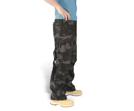 "Брюки ""SURPLUS VINTAGE FATIGUES TROUSERS"" - Washed black camo"