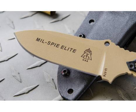 """Нож """"TOPS KNIVES Mil-Spie3 Elite, Tan and BLM handles"""""""