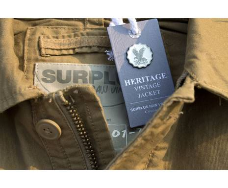 "Куртка ""SURPLUS HERITAGE VINTAGE JACKE"" - Washed beige"