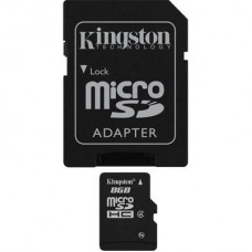 Карта памяти Kingston micro SDHC 8Gb Class 4